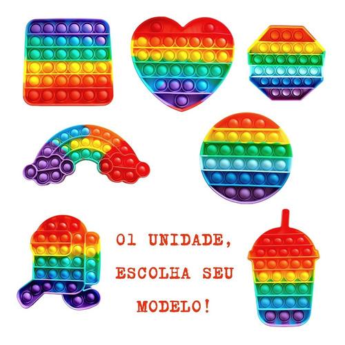 Brinquedo  Pop It Fidget Colorido Sensorial Anti Stress