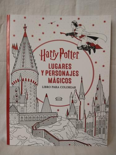 Harry Potter Lugares Y Personajes Mágicos - Para Colorear