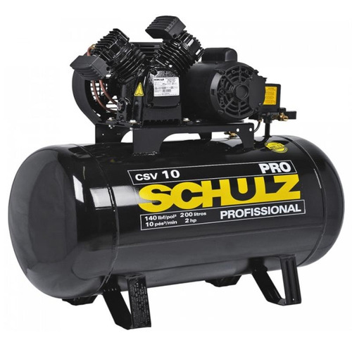 Compressor 10 Pés 200l 2,0 Hp Csv-10/200 Pro Schulz