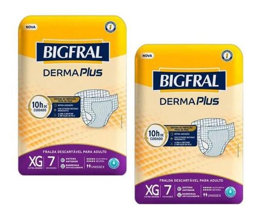 2 Pacotes Kit Fralda Bigfral Plus P M G Xg Geriátrica Adulto