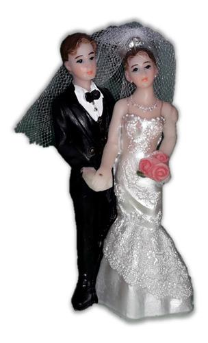 Topo De Bolo Casamento Casal Noivos Noivinhos Resina 9 Cm Ma