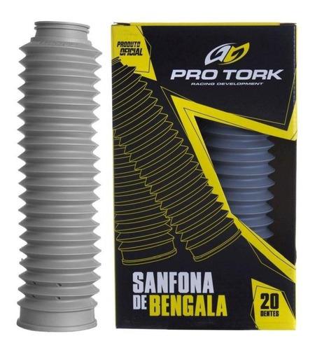 Sanfona De Bengala Xtz 125 Nxr 125/150 Pro Tork Cinza