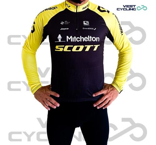 Camisa Blusa Ciclismo Be Fast Scott Masculina Manga Longa