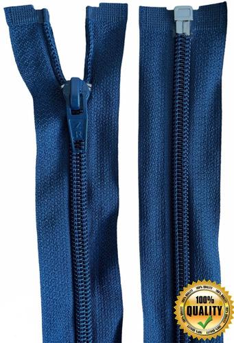 Ziper Nylon Destacável 80 Cm Jaqueta Blusa - Kit Com 10 Unid