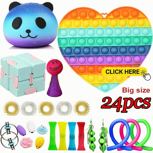 Conjunto De Brinquedos De Alívio De Estresse Fidget Cube Str