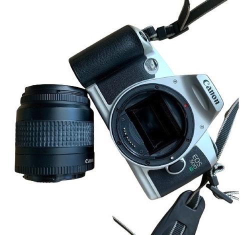 Câmera Analógica Filme Canon Eos500 Lente 35 80mm Perfeita