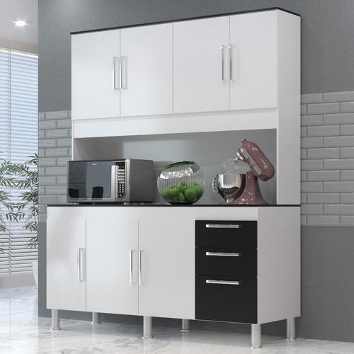 Cozinha Compacta Gemeos 1,44m 7 Portas 3 Gav.