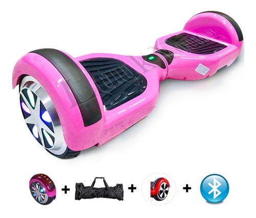 6 Led Hoverboard Skate Electrico Overboard Bluetooth Scooter