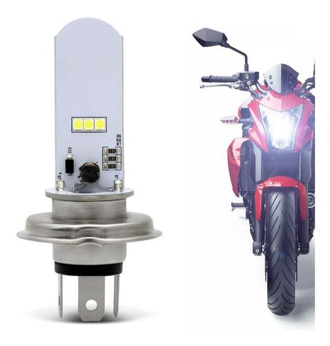 Lampada Farol Moto H4 2 Super Led Efeito Xenon Cb Fazer 250