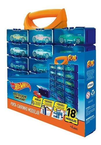 Hot Wheels Porta Carrinhos Com 18 Módulos - Fun F00378