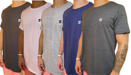 Kit 5 Camisetas Masculinas Básicas Algodão Premium Original