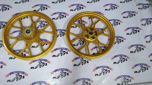 Roda Liga Leve Titan 2000 Esd (par) - Dourada