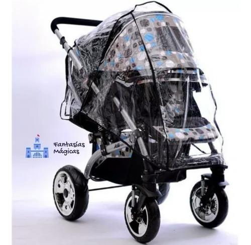 Protector Plástico De Lluvia Para Coches Con Porta Bebé