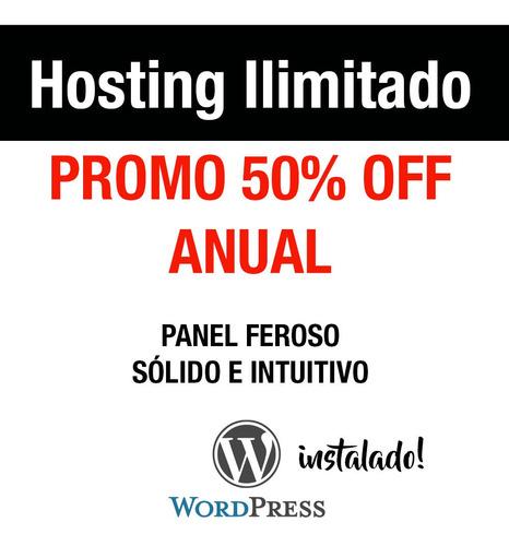 Hosting Ilimitado Anual Promo 50% Off