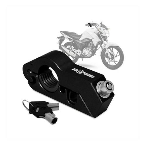 Trava Manete De Freio Antifurto Tecklock Moto Varias Cores