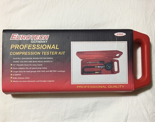 Manómetro Eurotech Kit Profesional