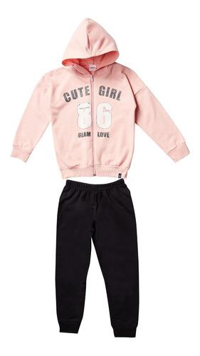 Conjunto Kids Menina Calça/jaqueta Estampa Glitter - Elian