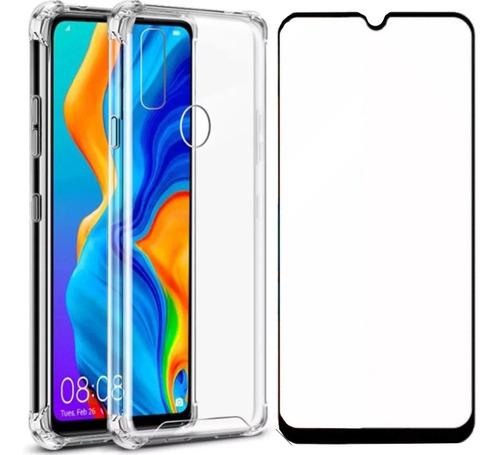 Capa Capinha Anti Shock + Pelicula 3d 5d 9d Huawei P30 Lite