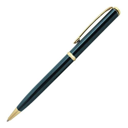 Caneta Executiva Crown Sigma Azul E Dourado Yw10068a