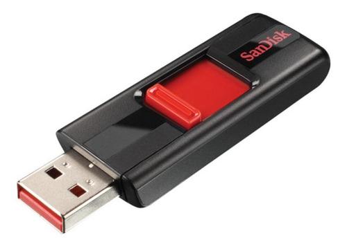 Memoria Usb Sandisk Cruzer 32gb 2.0 Negro Y Rojo