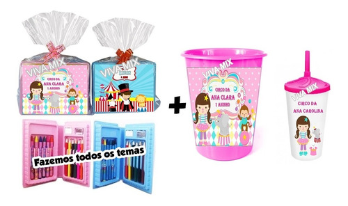 10 Maleta Estojo De Pintura +10 Copo Twister + 10 Baldes