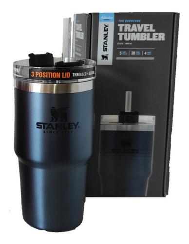 Copo Stanley Térmico Tumbler Canudo  Azul 680ml Original