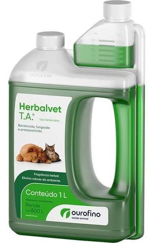 Herbalvet T.a. 1l Ourofino Desinfetante Bactericida Ambiente