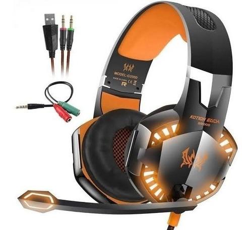 Headphones Gamer Kotion G2000 Orange