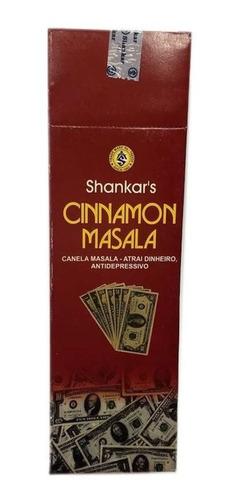 Incenso Shankar Cinnamon Masala Box Com 25 Caixinhas Full