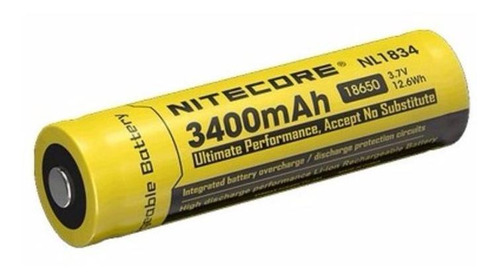 Bateria Nitecore 18650 Li-ion 3400 Mah Nl1834