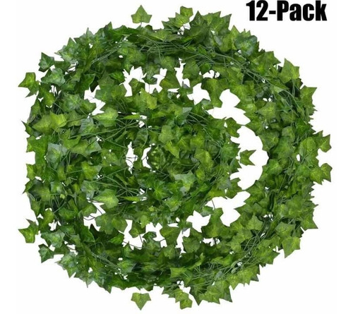 Pack 12 Tiras Planta Enredadera Artificial Decoración Hogar