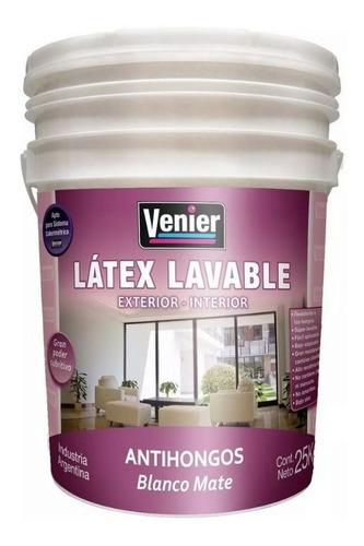 Latex Interior Exterior 20 Litros Lavable Antihongos Venier
