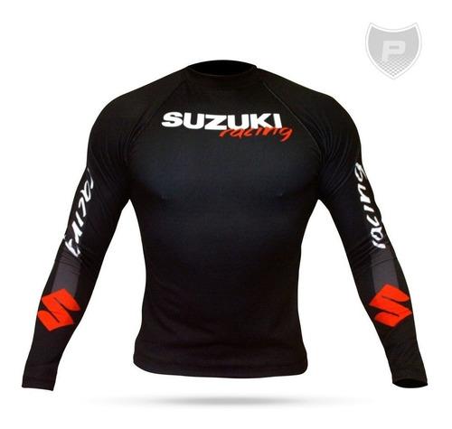 Camisa Uv50+ Segunda Pele Compressão Suzuki Rg01-13