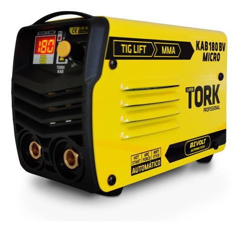 Maquina De Solda Inversora Kab 180 Micro Bivolt Mma Tig Tork