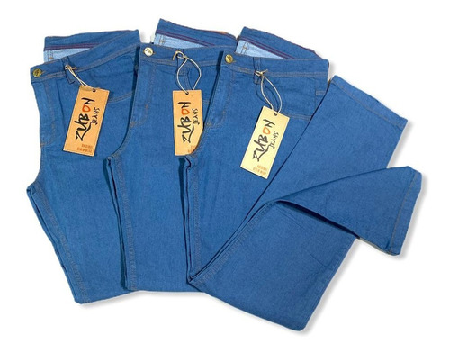 Calças Jeans Masculina Plus Size Elastano Trabalho Lycra