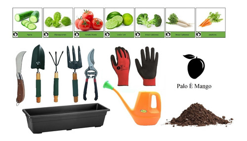 Kit Huerta En Casa Jardineria + Semillas + Abono + Tierra