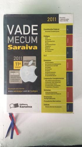 Livro Vade Mecum Saraiva 2011 11ª Edição Com Cd