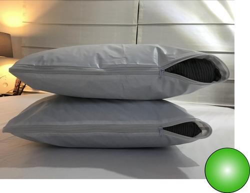 Forro Protector Antifluidos Plastico Para Almohada; (funda)