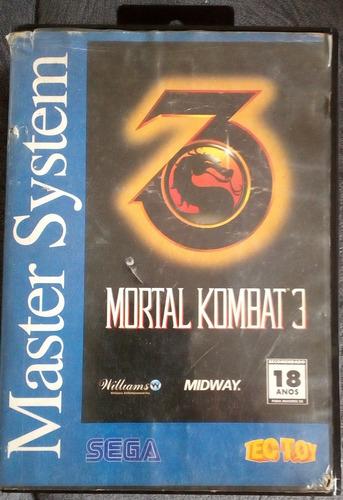 Cartucho Master System Mortal Kombat 3