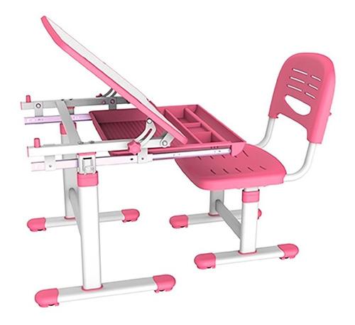 Mesa E Cadeira Infantil Com Regulagem B201 - Rosa