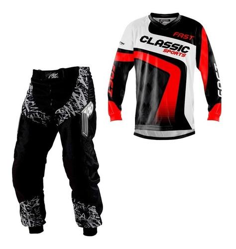 Conjunto Roupa Calça Camisa Motocross Trilha Protork Nfe