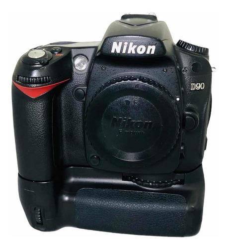 Câmera Nikon D90 C Grip Corpo Nota Fiscal Garantia Seminova