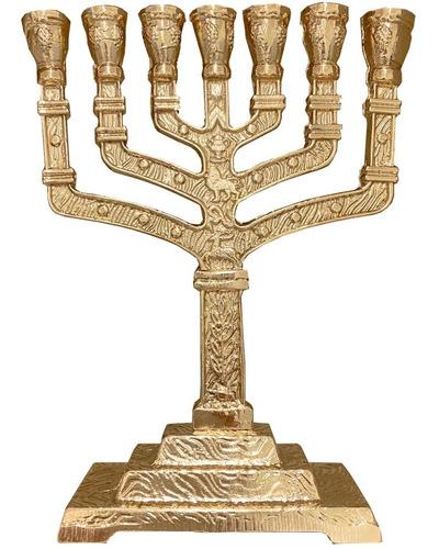Candelabro Ménora (menorah)12tribos De Israel Grande 16cm