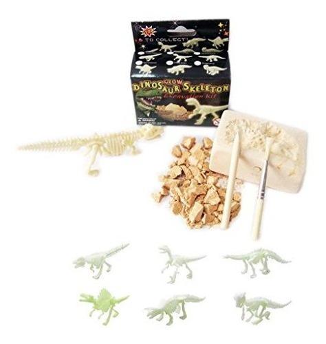 Nw Active Kids Kit De Excavacion De Dinosaurios Con Brillo P