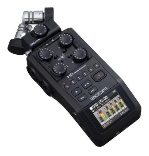 Gravador Digital Zoom H6 Black Finish 6-track Portátil Zoom
