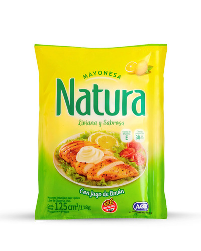 Mayonesa Natura Sin Tacc En Sachet 125ml