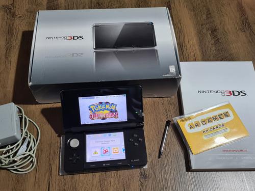 Nintendo 3ds Completo + 32gb  Lotado Dos Melhores Jogos 3d