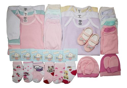 Kit C/25 Peças Roupas Bebê Body+meias Maternidade No Atacado