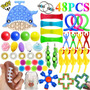 Baleia Push Pop Fidget Antistress 48 Dedo Toy Kit