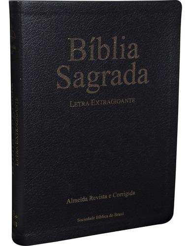 Bíblia Letra Extragigante Almeida Revista E Corrigida couro